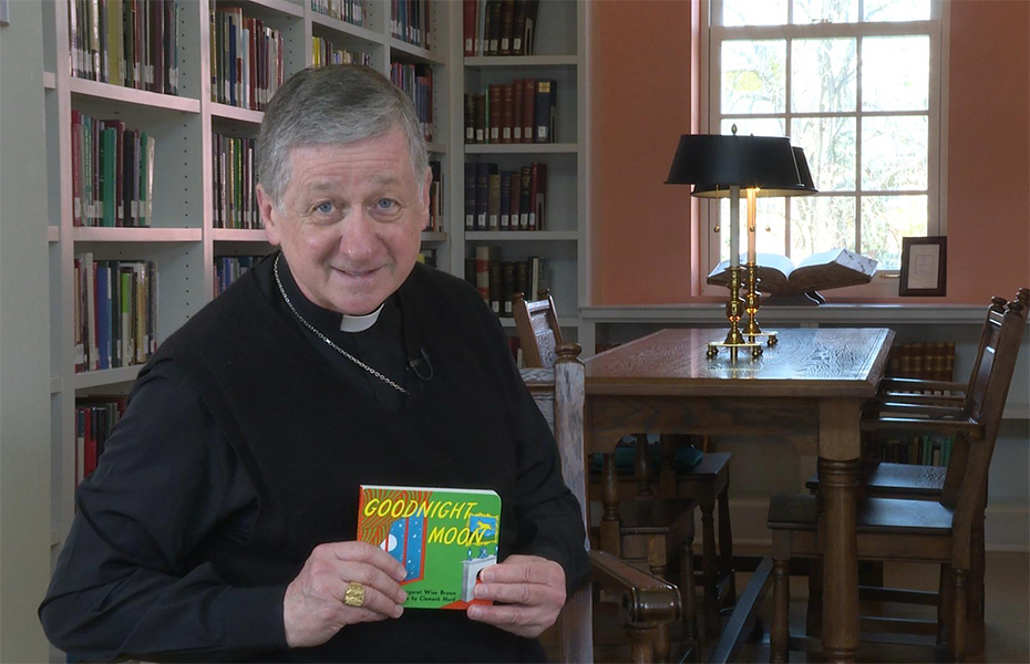"Cardinal Cupich Reads ""Goodnight Moon"""
