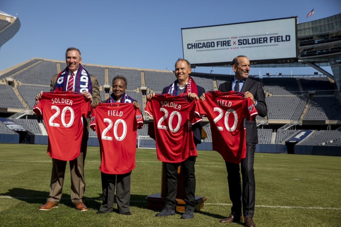 Lori Lightfoot and company welcome the Chicago Fire back to Soldier Field